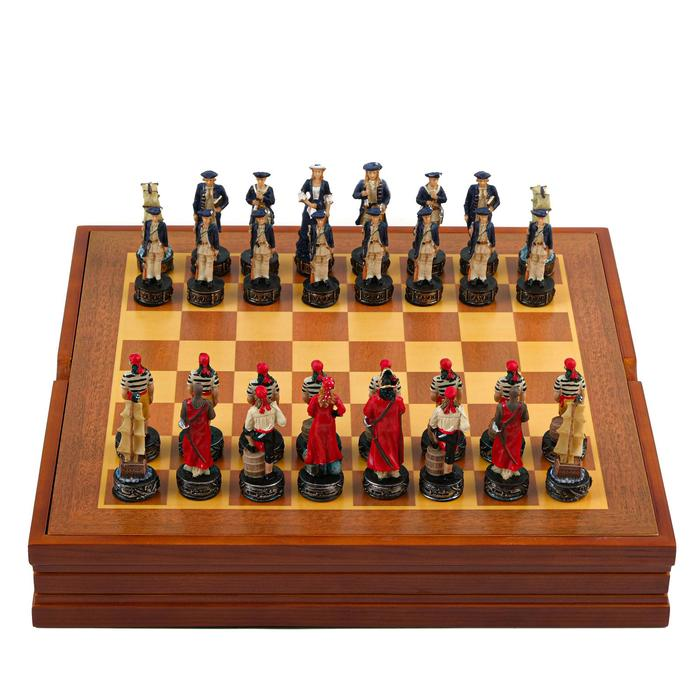 "Шахматы сувенирные ""Пиратская схватка"" (доска 36х36х6 см, h=8 см, h=6 см)"