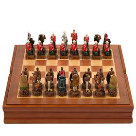 "Шахматы сувенирные ""Племенные разборки"" (доска 36х36х6 см, h=8 см, h=6 см)"