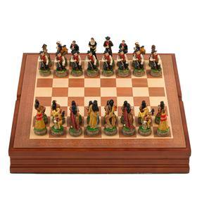 "Шахматы сувенирные ""Дикий Запад"" (доска 36х36х6 см, h=8 см, h=6 см)"