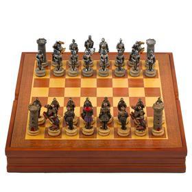 """Шахматы сувенирные """"Крестовый поход"""" (доска 36х36х6 см, h=8 см, h=6,5 см)"""