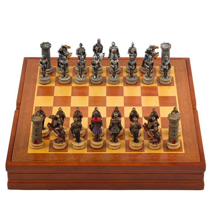 """Шахматы сувенирные """"Крестовый поход"""" (доска 36х36х6 см, h=8 см, h=6 см)"""