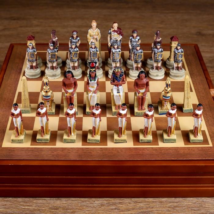 """Шахматы сувенирные """"Битва за Египет"""" (доска 36х36х6 см,  h=8 см, h=6 см)"""