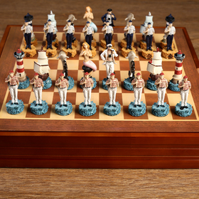 "Шахматы сувенирные ""Морские истории"" (доска 36х36х6 см, h=8 см, h=6 см)"