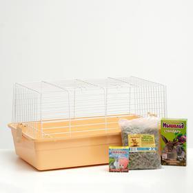 Акция для кролика! Клетка, корм, подстилка, солонец