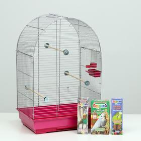 Акция для волнистого попугая! Клетка, корм, лакомство, жёрдочка