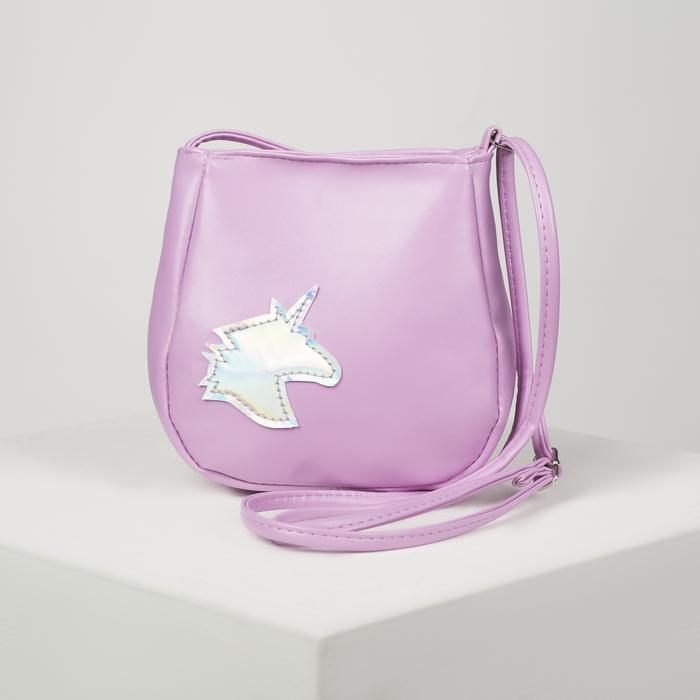 Сумка детская, отдел на клапане, цвет розовый, «Единорог»