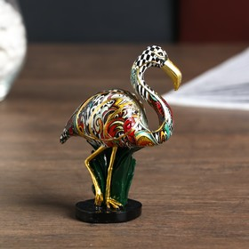 Souvenir Polyresin Flamingo painted with gold 11,5x4,2x8,5 cm