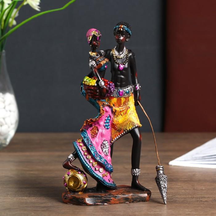 """Сувенир полистоун """"Пара из Найроби"""" МИКС 21,5х6х10 см"""