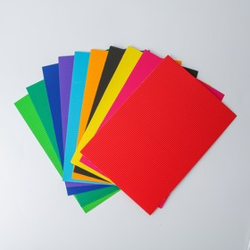 A set of colored cardboard