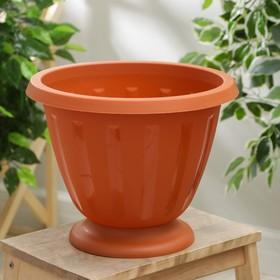 Вазон «Пальмира», 10 л, цвет коричневый