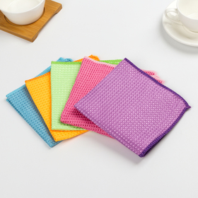 Салфетка для уборки, супермягкая, 30×30 см, цвет МИКС - фото 4643780