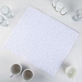 {{photo.Alt || photo.Description || 'Салфетка для сушки посуды Доляна «Папоротник», 38×50 см, микрофибра, цвет белый'}}