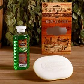 Подарочный набор 'Добропаровъ': шампунь 'Алоэ' и мочалка для тела Ош