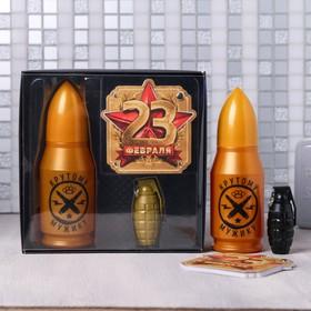 """Набор """"23 Февраля"""", гель для душа 200 мл аромат одеколон, ручка, блокнот"""