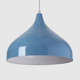 Светильник 5253 1х40Вт Е14 голубой 32х32х25см