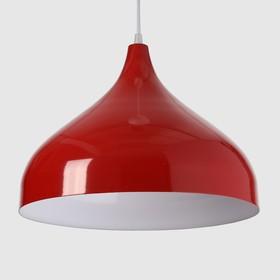Светильник 5253 1х15Вт Е14 красный 32х32х25см