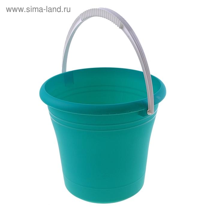 Ведро пластиковое 9 л, цвета МИКС