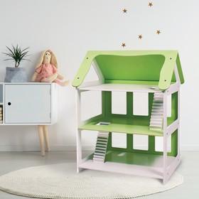 Дом кукольный «Вилла роз» зелёный