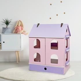 Дом кукольный «Фиалковая долина» розовый