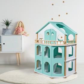 Дом кукольный «Семейная усадьба» мятный