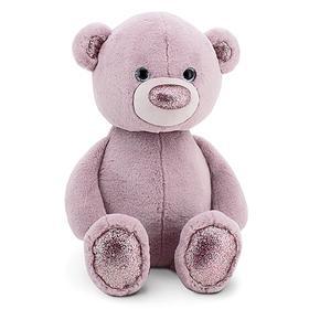 Мягкая игрушка «Медвежонок» цвет сиреневый, 22 см