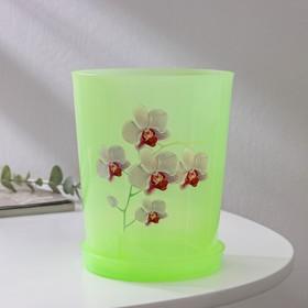 Горшок для орхидей с поддоном 1,2 л, цвет МИКС