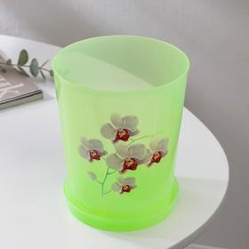 Горшок для орхидей с поддоном 1,2 л, цвет МИКС - фото 1694372