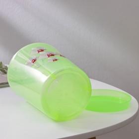 Горшок для орхидей с поддоном 1,2 л, цвет МИКС - фото 1694373