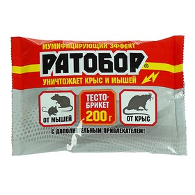 Briquette dough Ratobor from rodents package 200g.