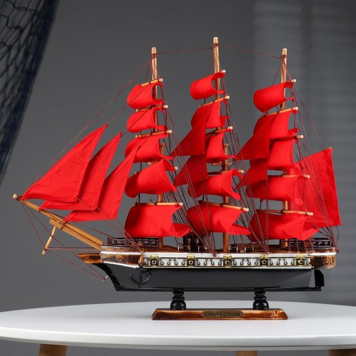 """Корабль """"Алые паруса"""", коричневый корпус, 43*8*37см"""
