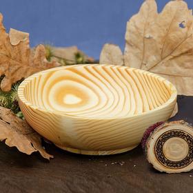 Тарелка из натуральной пихты, 400 мл, 17x5.5 см, цвет молочный Ош