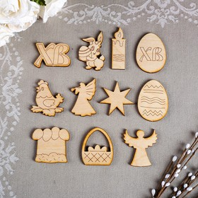 A set of creative Easter (12 PCs) in bag, 4,5x4,5 cm