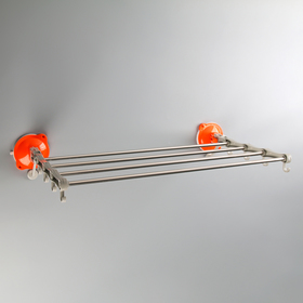 The towel holder, folding, 4 boards, 8 hooks on the suction cups, mix color
