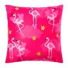 """Набор подарочный """"Фламинго"""" подушка-секрет 40х40 см и аксессуары (4 шт) - фото 105554639"""