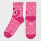 """Набор подарочный """"Фламинго"""" подушка-секрет 40х40 см и аксессуары (4 шт) - фото 105554640"""