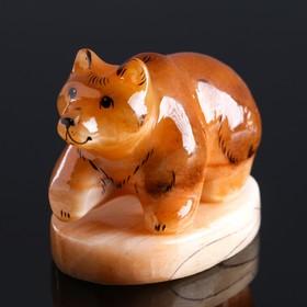 """Souvenir """"Bear"""" 7.5x1 cm, Selenite"""