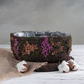 Кашпо плетёное овальное «Пробуждение», 26×18×10 см