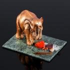 """Сувенир """"Слон"""", 7х10х7 см, смеевик, гипс, минералы"""