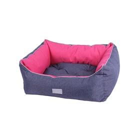 """Лежанка Pretty Pet """"Барселона"""", 63 х 52 х 20 см, (внутренний размер 41 х 31 см), розовая"""