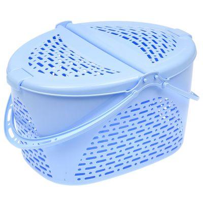 Корзина для пикника 39х29х23 см, цвет голубой