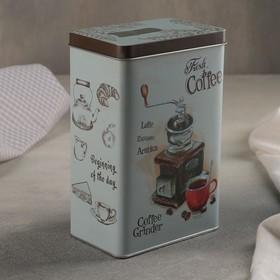 Банка для сыпучих продуктов с носиком «Кофе» 1,5 л, 12×8×18,5 см