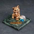 "Souvenir ""cat"", 5х5х4 cm, serpentine, gypsum"