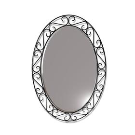 Зеркало навесное Грация, 480x10x620,черный