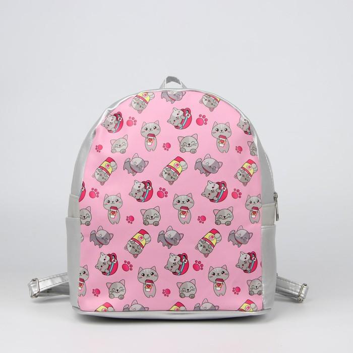 Рюкзак, отдел на молнии, цвет розовый