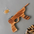 """Toy wooden shooting rubber bands """"Automatic"""" 2,5х19х14 cm"""