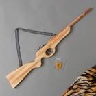 """Toy wooden shooting rubber bands """"Shotgun"""" 2х68х8 cm"""