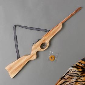 Игрушка деревянная стреляет резинками «Ружьё» 2?68?8 см