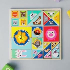 Развивающая игра «Танграм Животные» 0,5×22×22 см