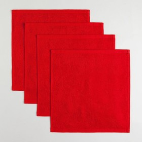 "Набор махровых полотенец ""LOVE"" 30х30 см-4шт, хлопок, 340 г/м2"