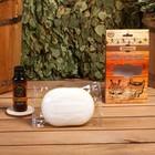 """Подарочный набор """"Добропаровъ"""": мочалка для тела и ароматизатор для бани"""